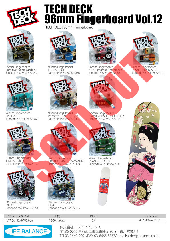 TECH DECK 96mm Fingerboard Vol12
